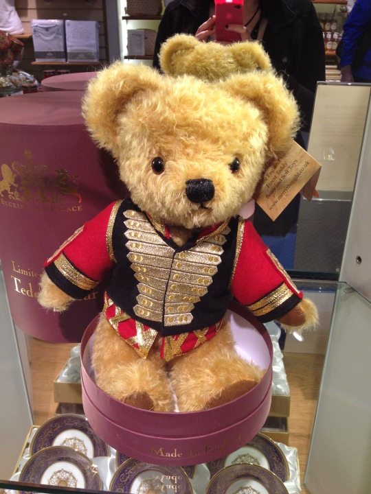 Finally, here is a £250 teddy bear in the Buckingham Palace gift shop.  ...I did not buy one.